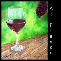 oil painting of red wine