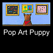 pop art painting of dog (SOLD)