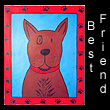 folk art painting of dog (SOLD)