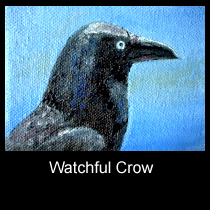 oil painting ACEO of crow (SOLD)