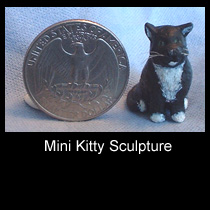 miniature mixed media cat sculpture (SOLD)