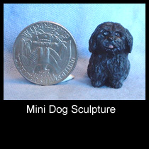 miniature mixed media dog sculpture (SOLD)