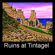painting of castle ruins at Tintagel