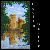 acrylic painting of castle