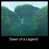 painting of the sword in the stone