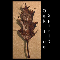 leather sculpture of tree spirit