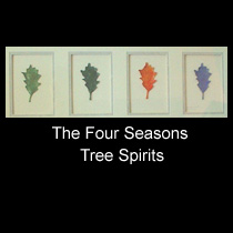 leather sculpture of four seasons tree spirits
