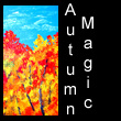acrylic abstract painting of autumn trees (SOLD)