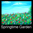 acrylic abstract landscape painting of flower garden (SOLD)
