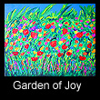 abstract landscape painting of flower garden (SOLD)
