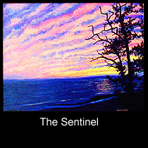 painting of sunset on Lake Michigan
