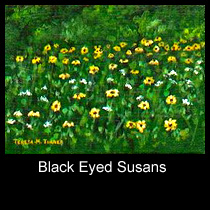 landscape painting of black eyed susans (SOLD)