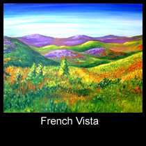 landscape painting of French countryside