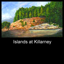 landscape painting of Georgian Bay islands