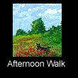 miniature landscape painting of poppies (SOLD)
