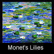 miniature painting of water lilies (SOLD)