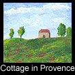 miniature landscape painting of cottage (SOLD)