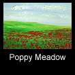 miniature oil landscape painting of poppies (SOLD)