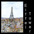 miniature landscape painting of eiffel tower (SOLD)