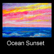 miniature landscape painting of sunset (SOLD)