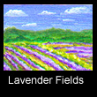 miniature landscape painting of lavender fields (SOLD)