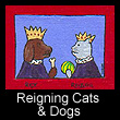 miniature folk art painting of dog & cat (SOLD)