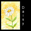 miniature painting of daisy (SOLD)
