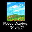 miniature landscape painting with poppies (SOLD)
