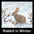 miniature painting of rabbit (SOLD)