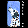 miniature painting of dalmatian dog (SOLD)