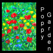 miniature painting of poppy garden (SOLD)