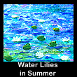 miniature impressionist painting of water lilies (SOLD)
