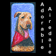 miniature painting of airedale dog (SOLD)