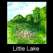 miniature landscape painting of pond (SOLD)