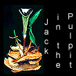 leather sculpture of jack-in-the-pulpit flower (SOLD)