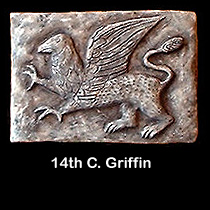 14th c. griffin wall sculpture