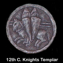 12th c. knights templar wall sculpture