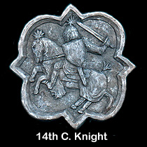 14th c. knight wall sculpture