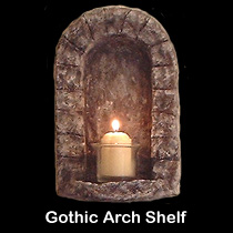 gothic arch wall sculpture