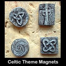 sculpted celtic magnets
