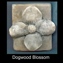 hydrostone dogwood flower plaque