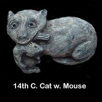 14th c. cat sculpture